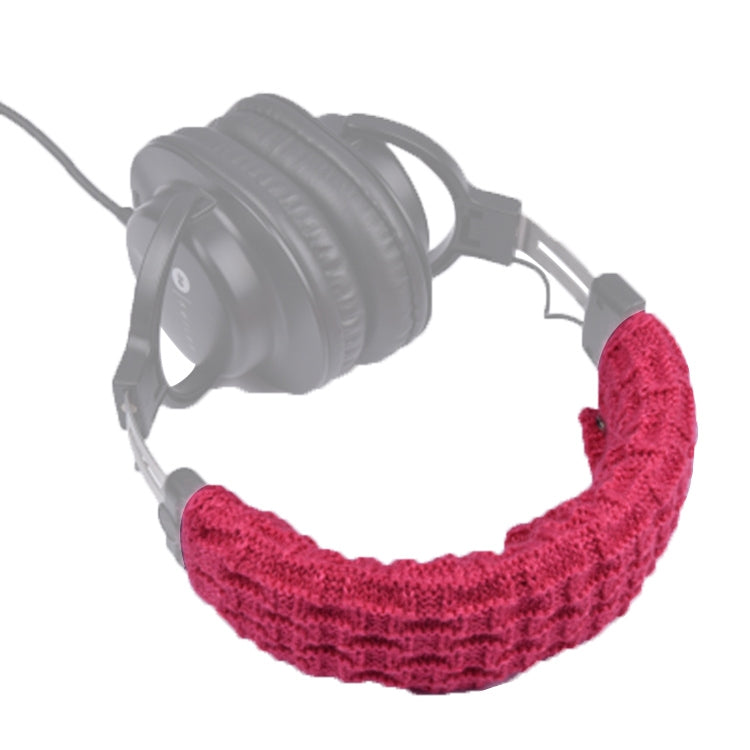 Knitted Headphone Dustproof Protective Case for Beats Studio2 / ATH-MSR7 / Sennheiser(Red)