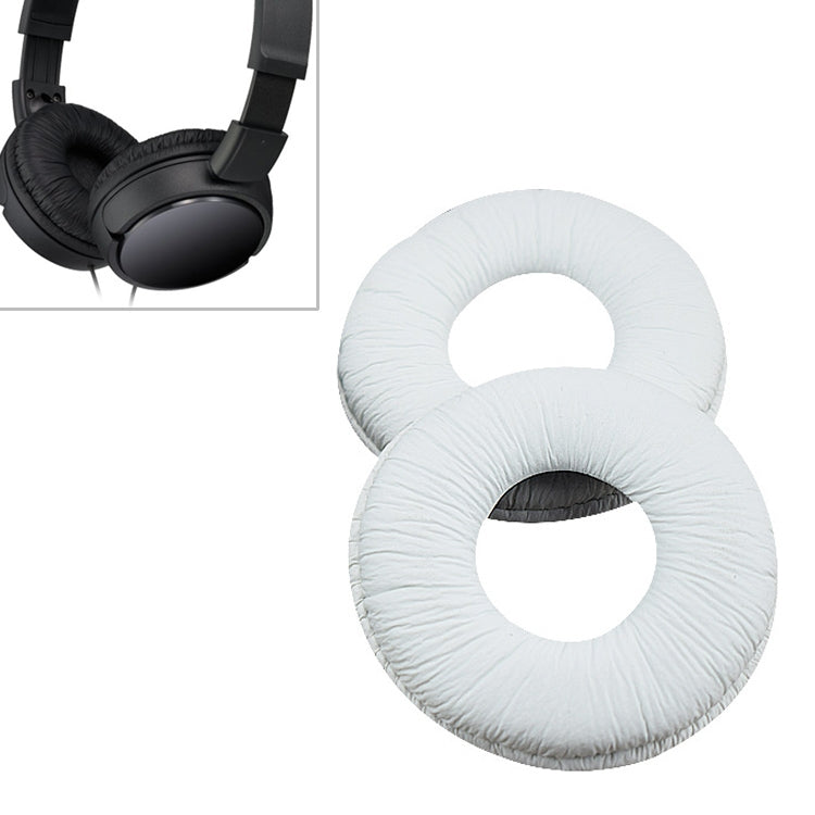 1 Pair Sponge Headphone Protective Case for Sony MDR-ZX110 ZX100 / 300 V150 V300 (White)