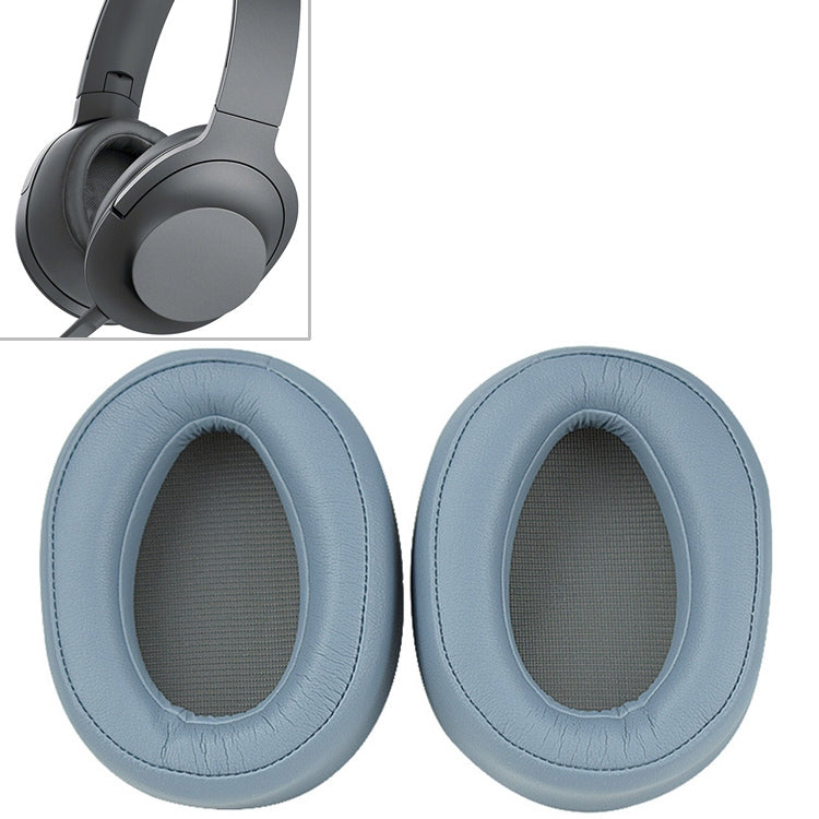 1 Pair Sponge Headphone Protective Case for Sony  MDR 100AAP (Blue)