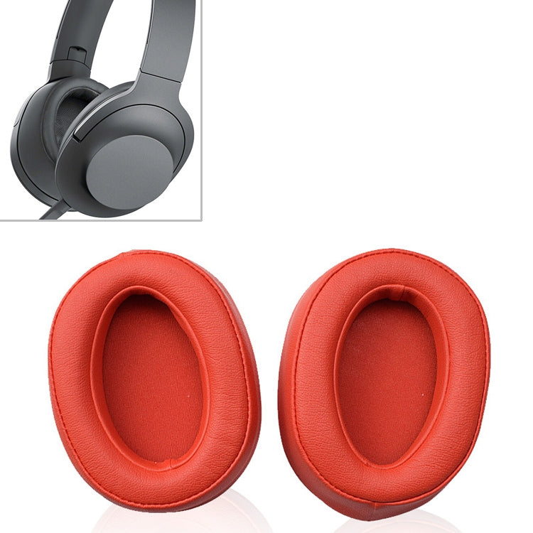 1 Pair Sponge Headphone Protective Case for Sony  MDR 100AAP (Red)