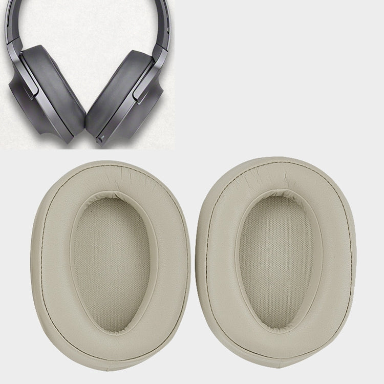 1 Pair Sponge Headphone Protective Case for Sony MDR-100ABN / WH-H900N (Gold)