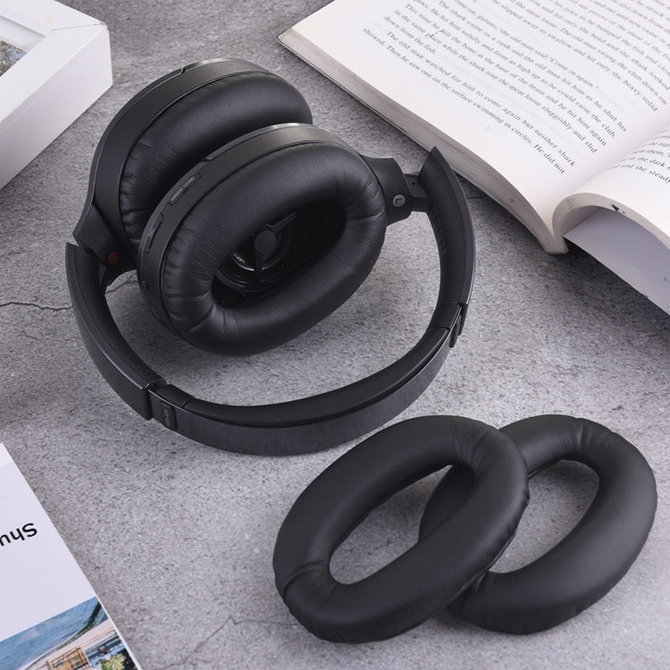 1 Pair Sponge Headphone Protective Case for Sony MDR-1000X WH-1000XM2 (Black)