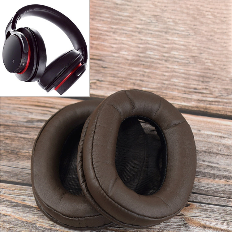 1 Pair Sponge Headphone Protective Case for Sony MDR-1R (Brown)
