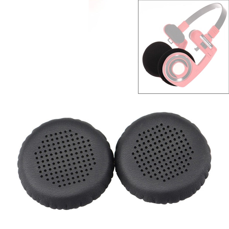 2 PCS For KOSS PP / SP Perforated Ventilation Version Protein Leather Cover Headphone Protective Cover Earmuffs (Black)