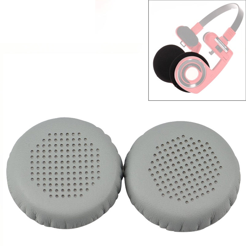 2 PCS For KOSS PP / SP Perforated Ventilation Version Protein Leather Cover Headphone Protective Cover Earmuffs (Grey)