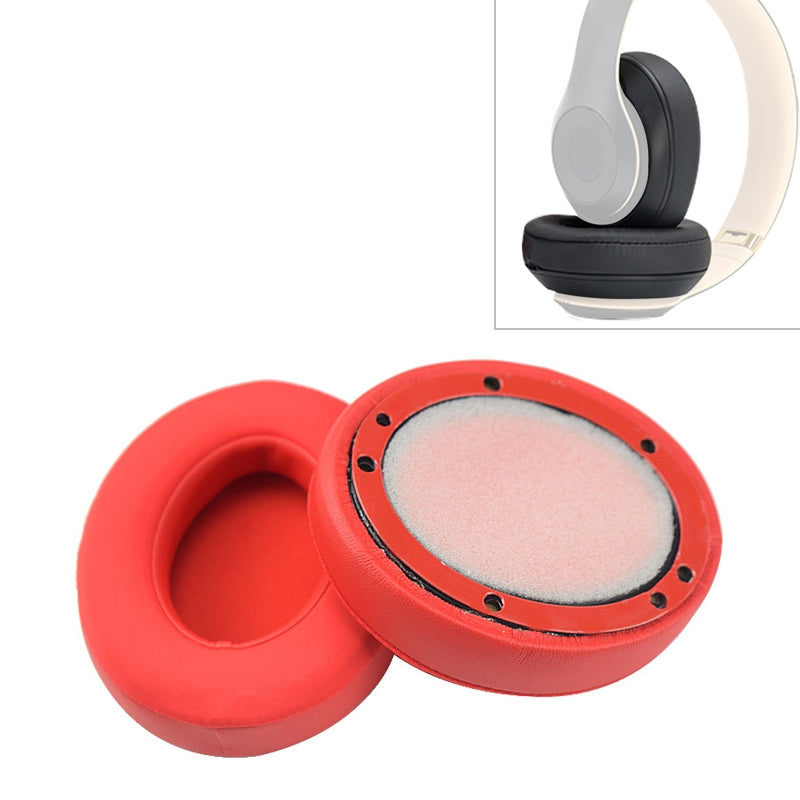2 PCS For Beats Studio 2.0 / 3.0 Headphone Protective Cover Ice Gel Earmuffs (Red)