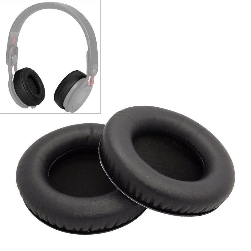2 PCS For Steelseries Siberia V2 / V1 Frost Blue Black Protein Leather Cover Headphone Protective Cover Earmuffs