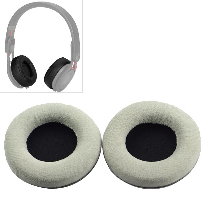2 PCS For Steelseries Siberia V2 / V1 Frost Blue Grey Flannel Version Headphone Protective Cover Earmuffs