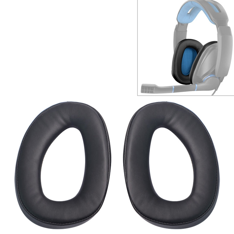 2 PCS For Senhai GSP300 301 302 303 350 Earphone Cushion Cover Earmuffs Replacement Earpads without Mesh