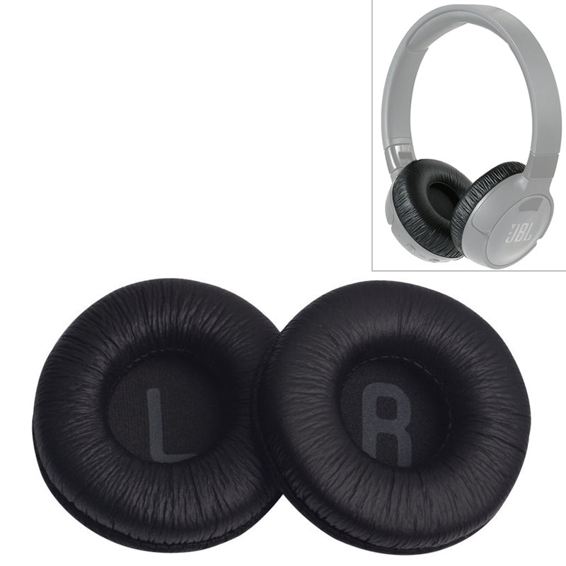2 PCS For JBL Tune 600BTNC T500BT T450BT Earphone Cushion Cover Earmuffs Replacement Earpads with Mesh (Black)