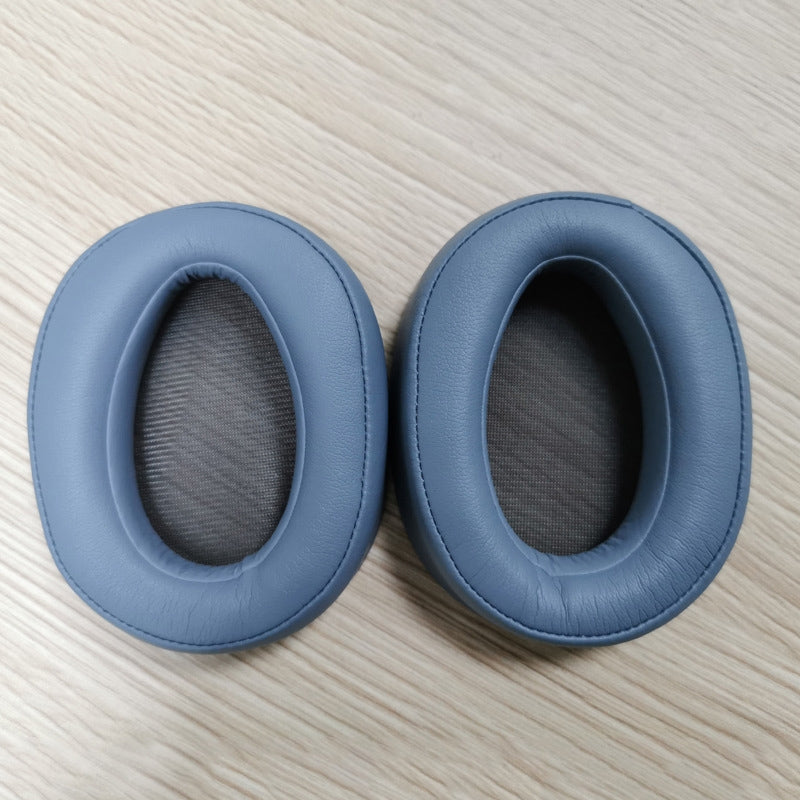 2 PCS For Sony MDR-100ABN WI-H900N  Earphone Cushion Cover Earmuffs Replacement Earpads with Mesh (Blue)