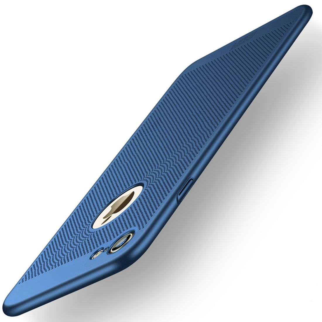 MOFi for iPhone 7 Honeycomb Texture Breathable PC Shockproof Protective Back Cover Case(Blue)