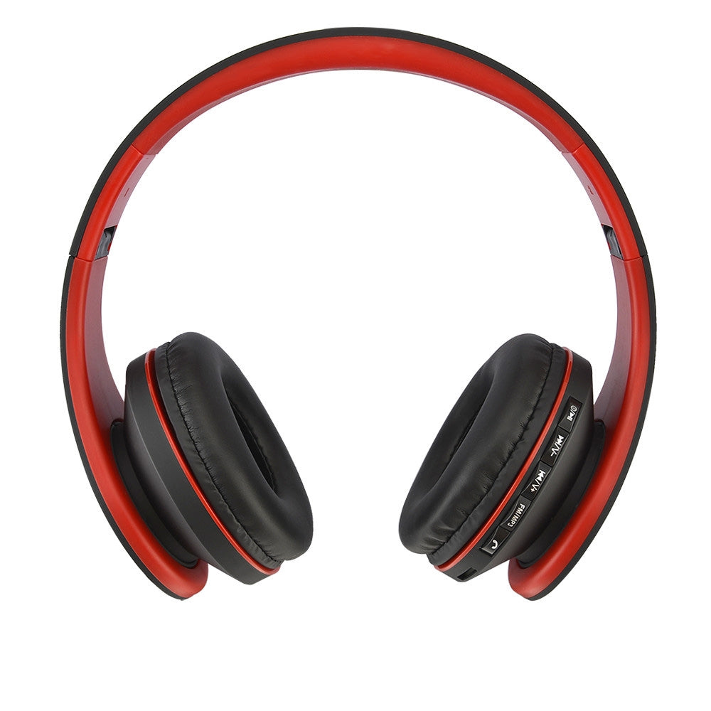 BTH-811 Folding Stereo Wireless  Bluetooth Headphone Headset with MP3 Player FM Radio, for Xiaomi, iPhone, iPad, iPod, Samsung, HTC, Sony, Huawei and Other Audio Devices(Red)