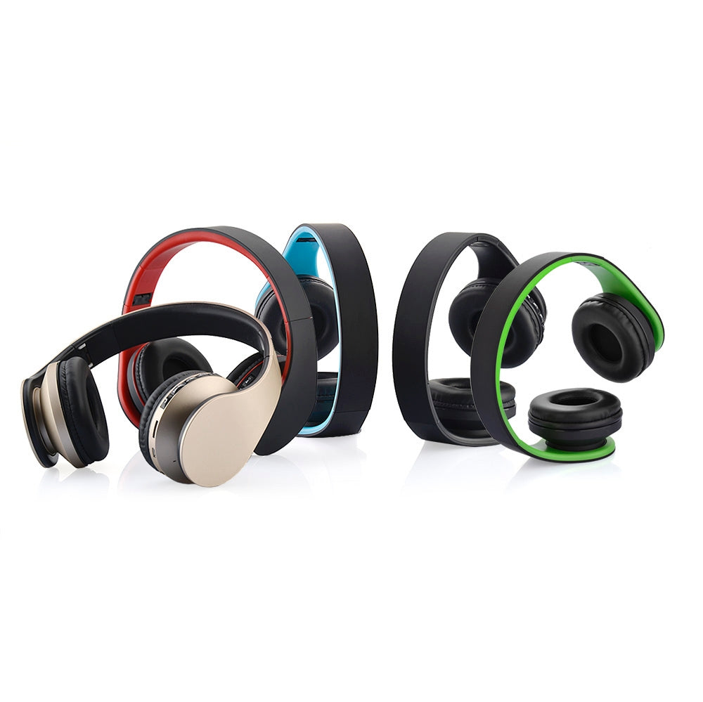 BTH-811 Folding Stereo Wireless  Bluetooth Headphone Headset with MP3 Player FM Radio, for Xiaomi, iPhone, iPad, iPod, Samsung, HTC, Sony, Huawei and Other Audio Devices(Black)