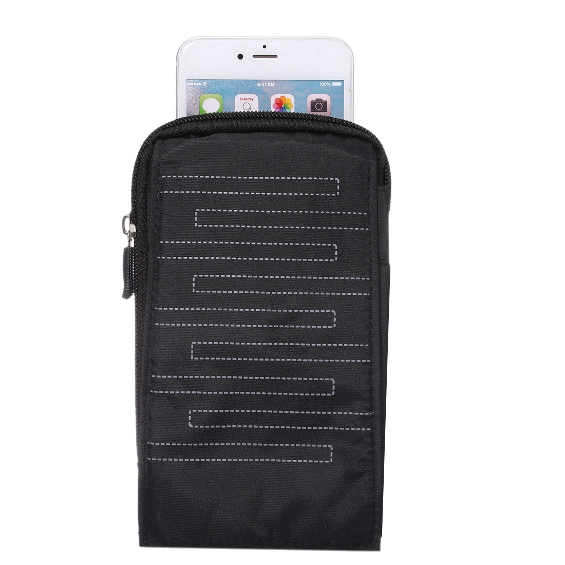 6.4 inch Multifunctional Rectangular Pattern Canvas Sports Storage Waist Packs / Phone Cases / Hiking Bag