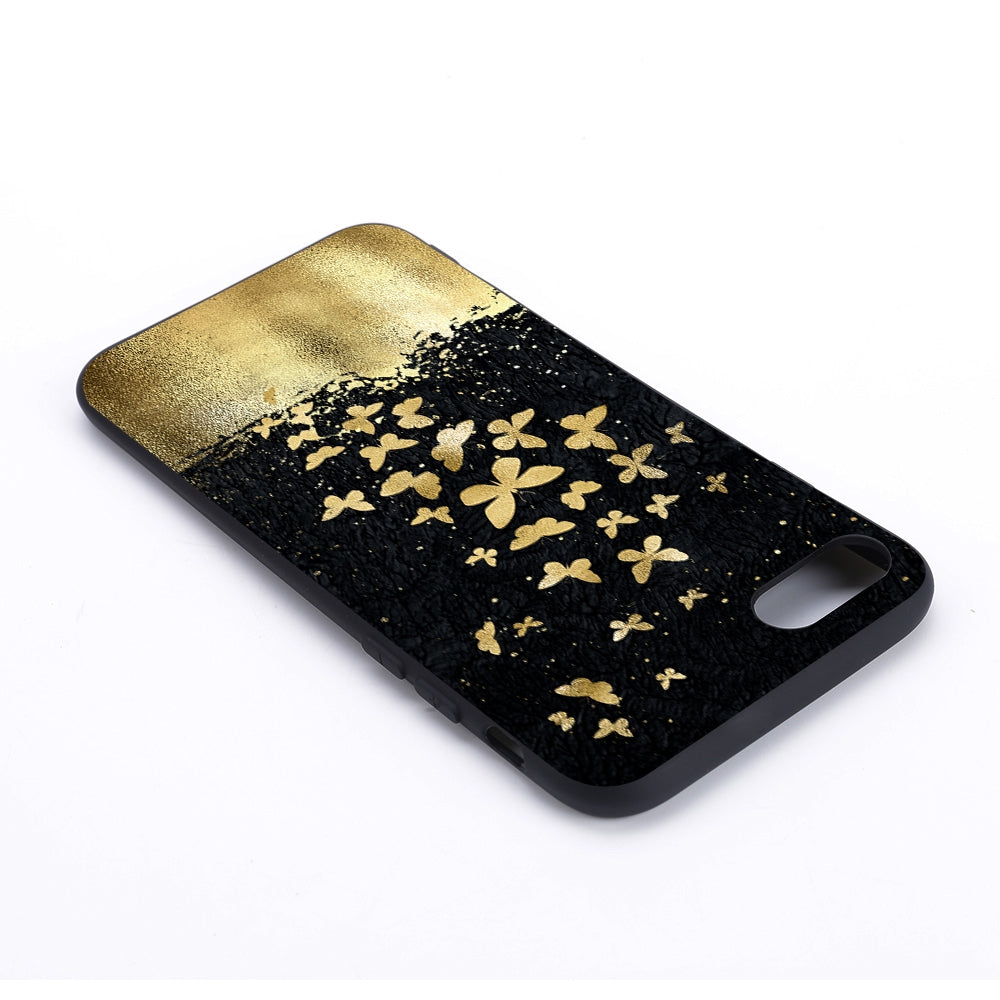 Gold Butterfly Painted Pattern Soft TPU Case for iPhone 8 & 7