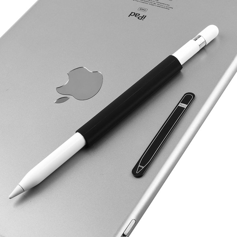 Magnetic Sleeve Silicone Holder Grip Set for Apple Pencil (Black)