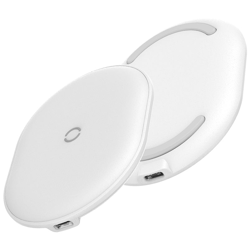 Baseus 15W Cobble Qi Standard Wireless Charger with 1m Type-C Cable (White)