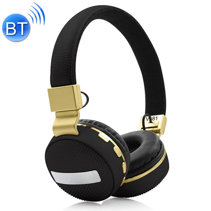 V681 Wireless Bluetooth 4.2 Headphone with Mic & FM & TF Card, For iPhone, iPad, iPod, Samsung, HTC, Sony, Huawei, Xiaomi and other Audio Devices(Black)