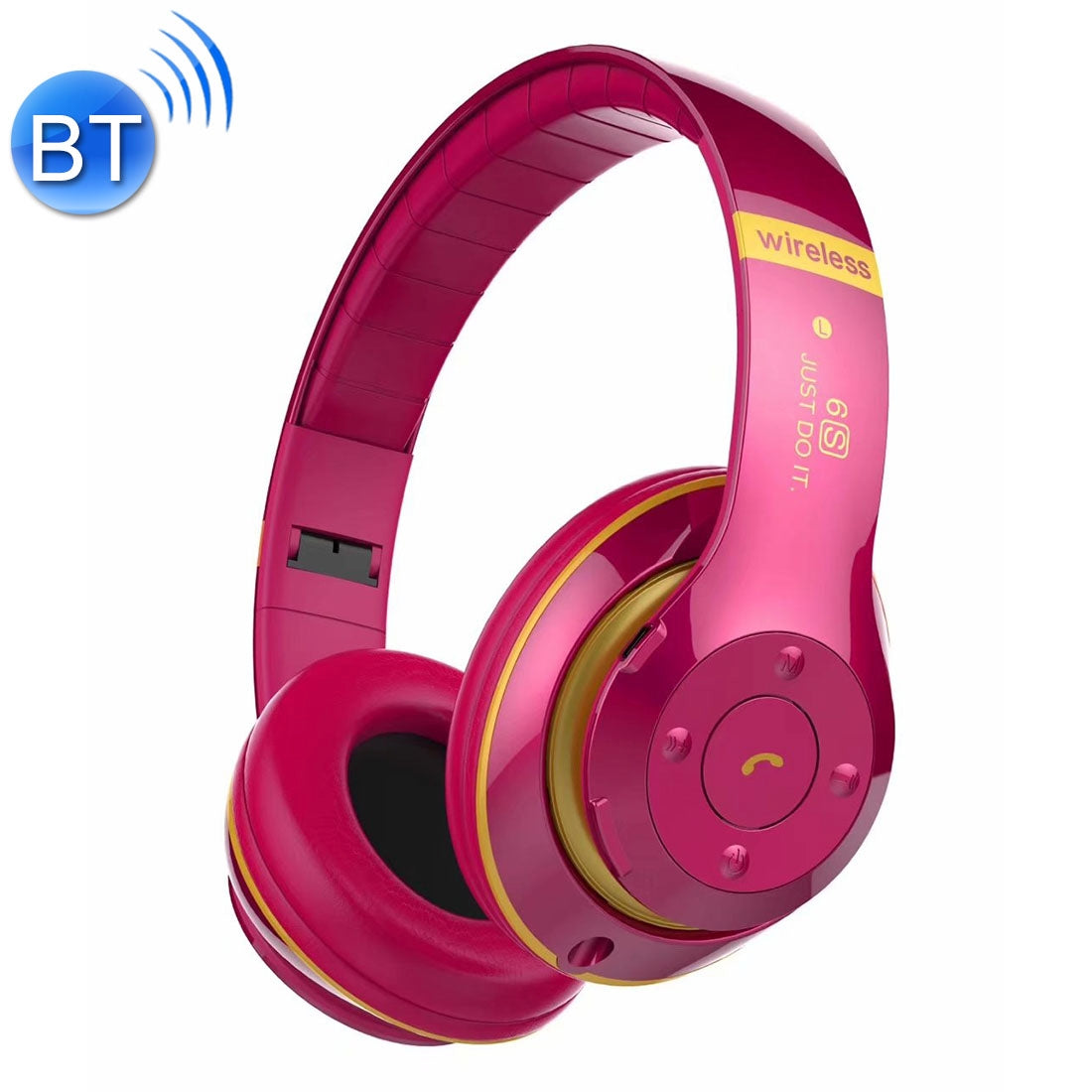 V30 Wireless Bluetooth 4.2 Headphone with Mic & FM & TF Card & Handfree Function, For iPhone, iPad, iPod, Samsung, HTC, Sony, Huawei, Xiaomi and other Audio Devices(Magenta)