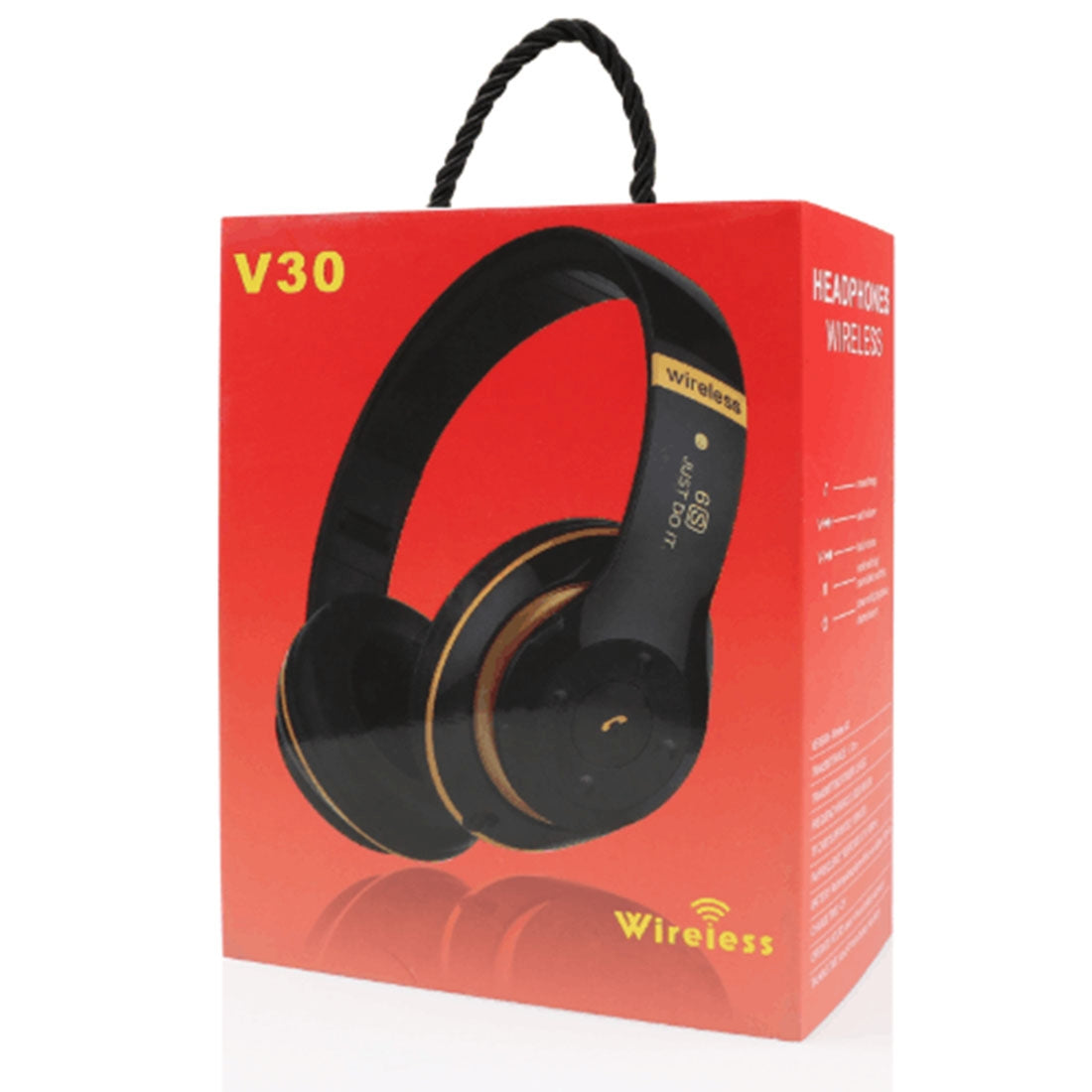 V30 Wireless Bluetooth 4.2 Headphone with Mic & FM & TF Card & Handfree Function, For iPhone, iPad, iPod, Samsung, HTC, Sony, Huawei, Xiaomi and other Audio Devices(Brown)
