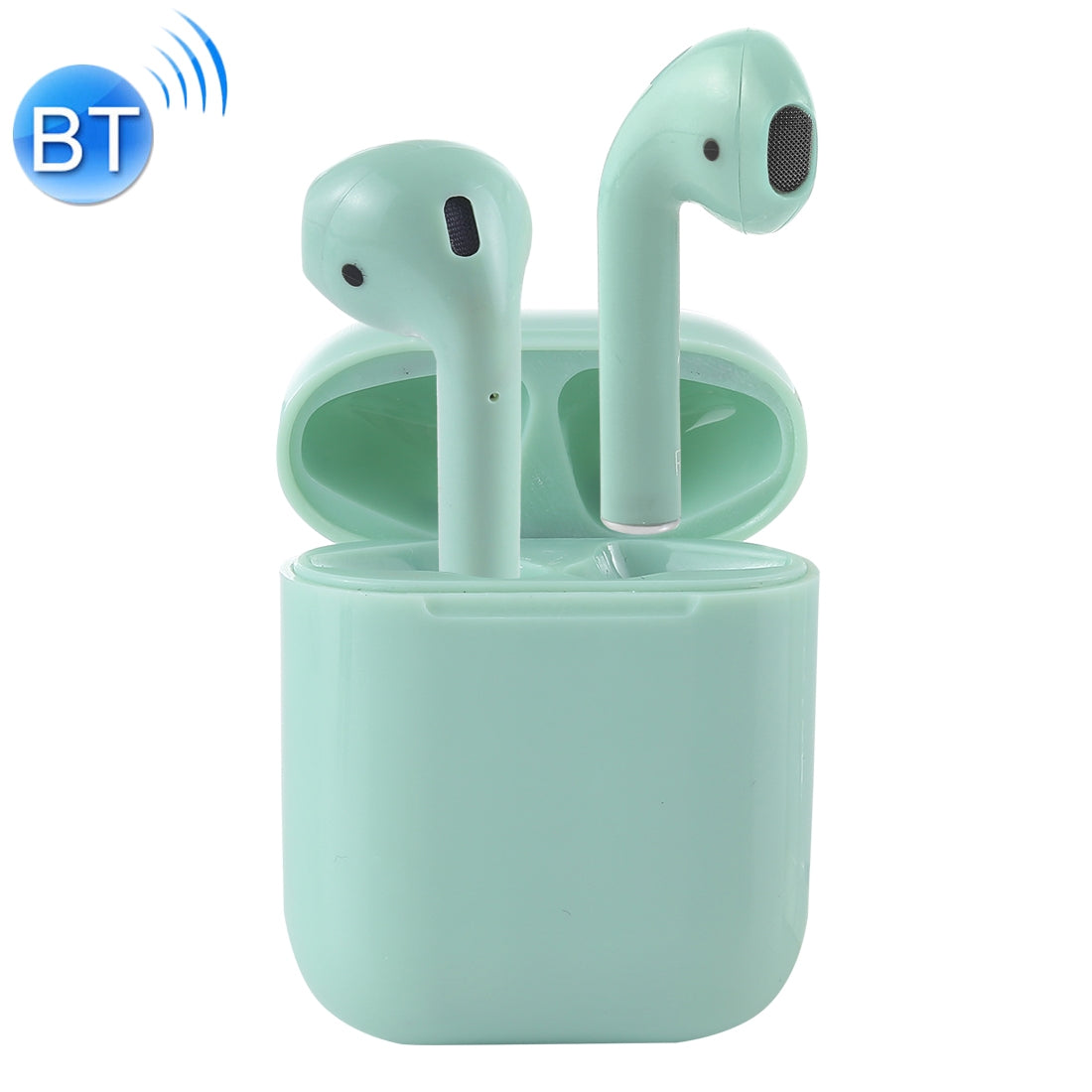 i12-XS TWS Binaural Calls Wireless Bluetooth Earphones with Charging Case, Support Touch Calling 5.0(Green)