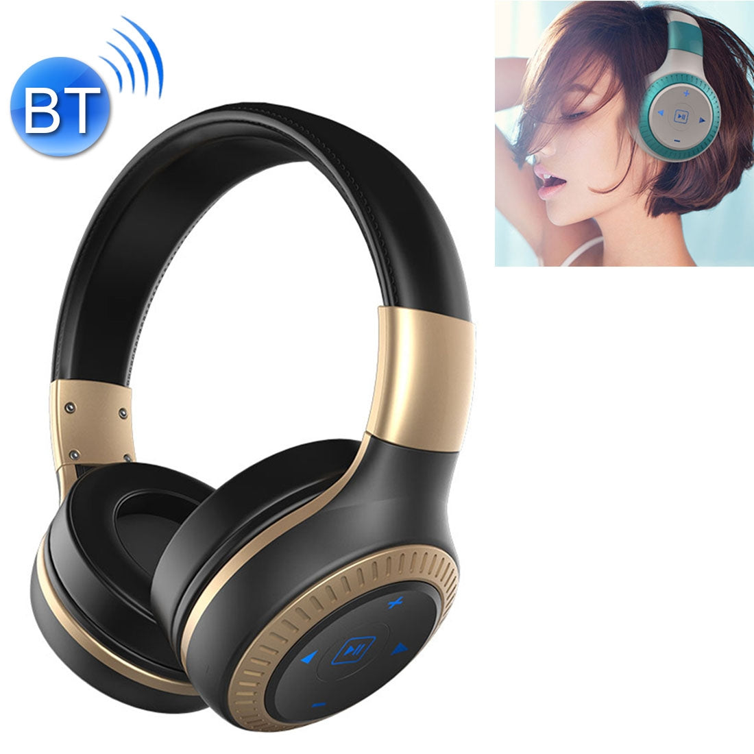 ZEALOT B20 Stereo Wired Wireless Bluetooth 4.0 Subwoofer Headset with 3.5mm Universal Audio Cable Jack & HD Microphone, For Mobile Phones & Tablets & Laptops(Gold)
