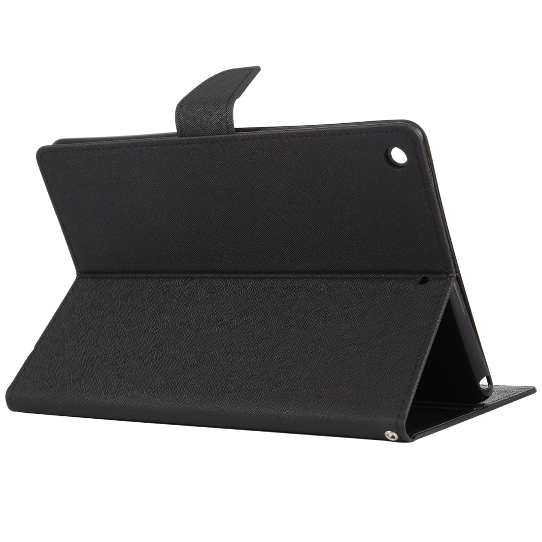 GOOSPERY FANCY DIARY for iPad 10.2 Cross Texture Leather Case with Card Slot & Holder & Wallet (Black)