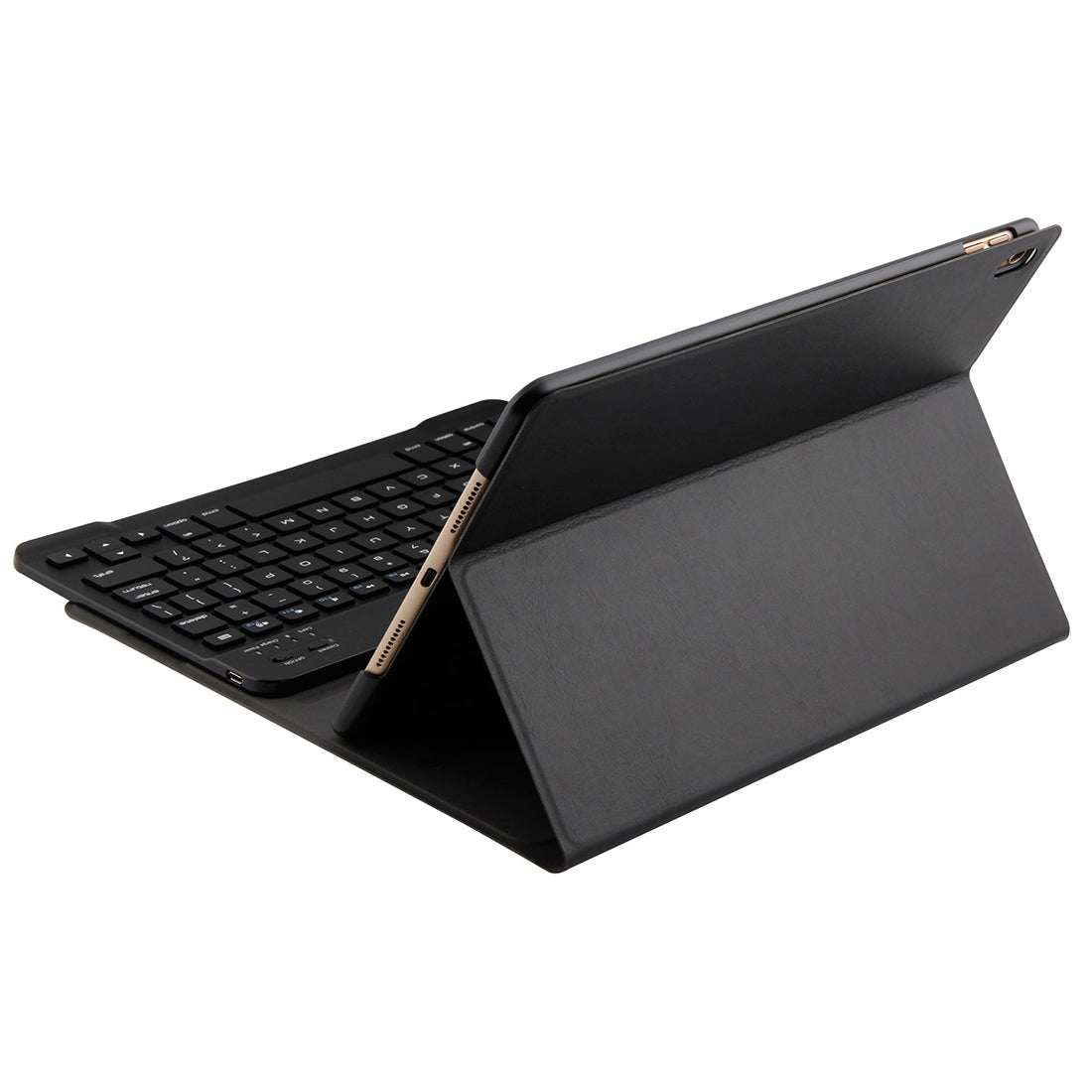 FT-1035 For iPad Pro 10.5 inch & iPad Air 10.5 inch Lambskin Texture Detachable Plastic Bluetooth Keyboard Leather Cover with Stand Function(Black)