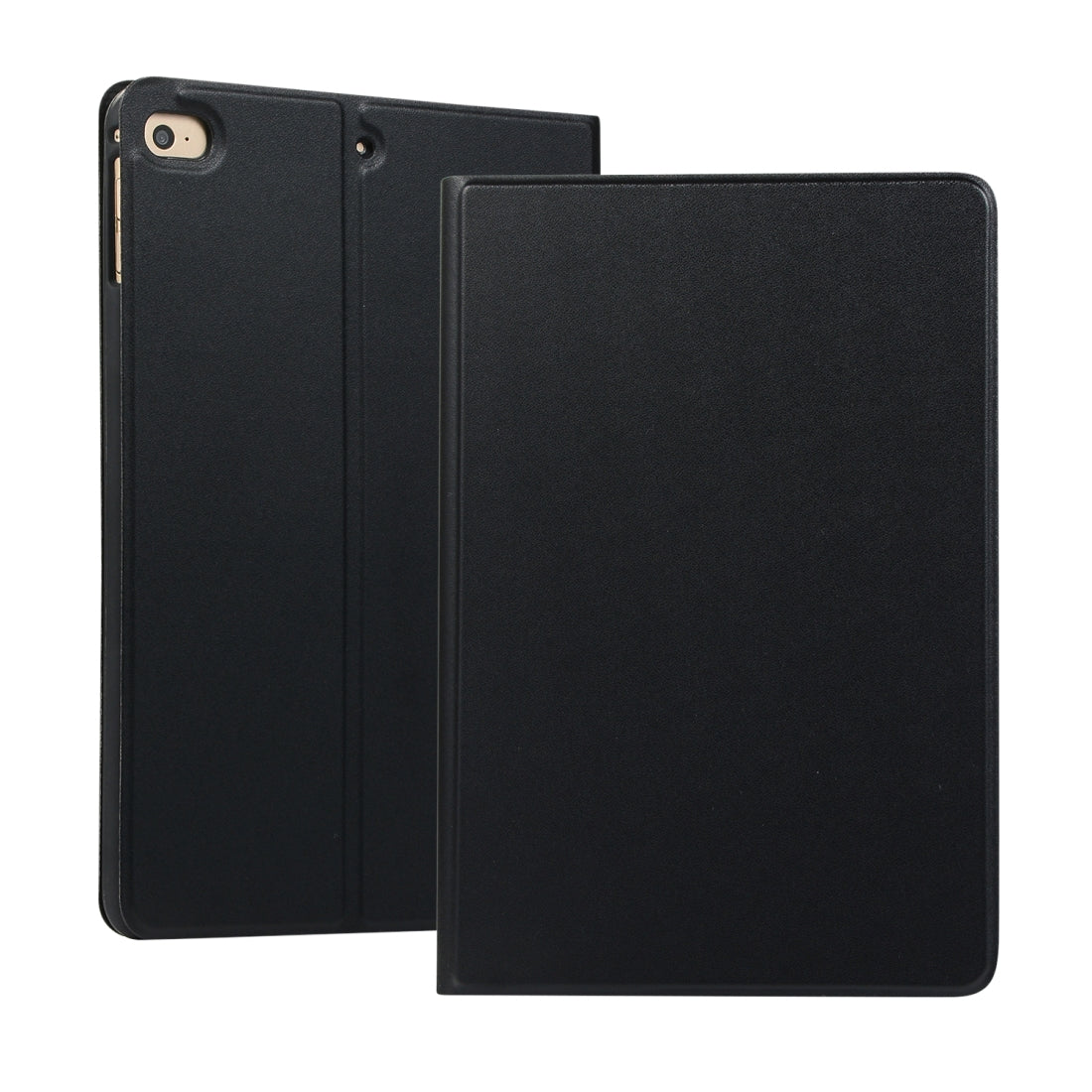 Universal Spring Texture TPU Protective Case for iPad Mini 4 / 5, with Holder(Black)