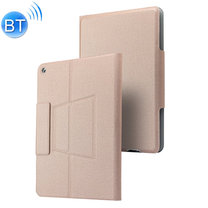 P102AS For iPad 10.2 inch 2019 Backlight Bluetooth Keyboard Leather Case with Stand & Pen Slot Function (Pink)