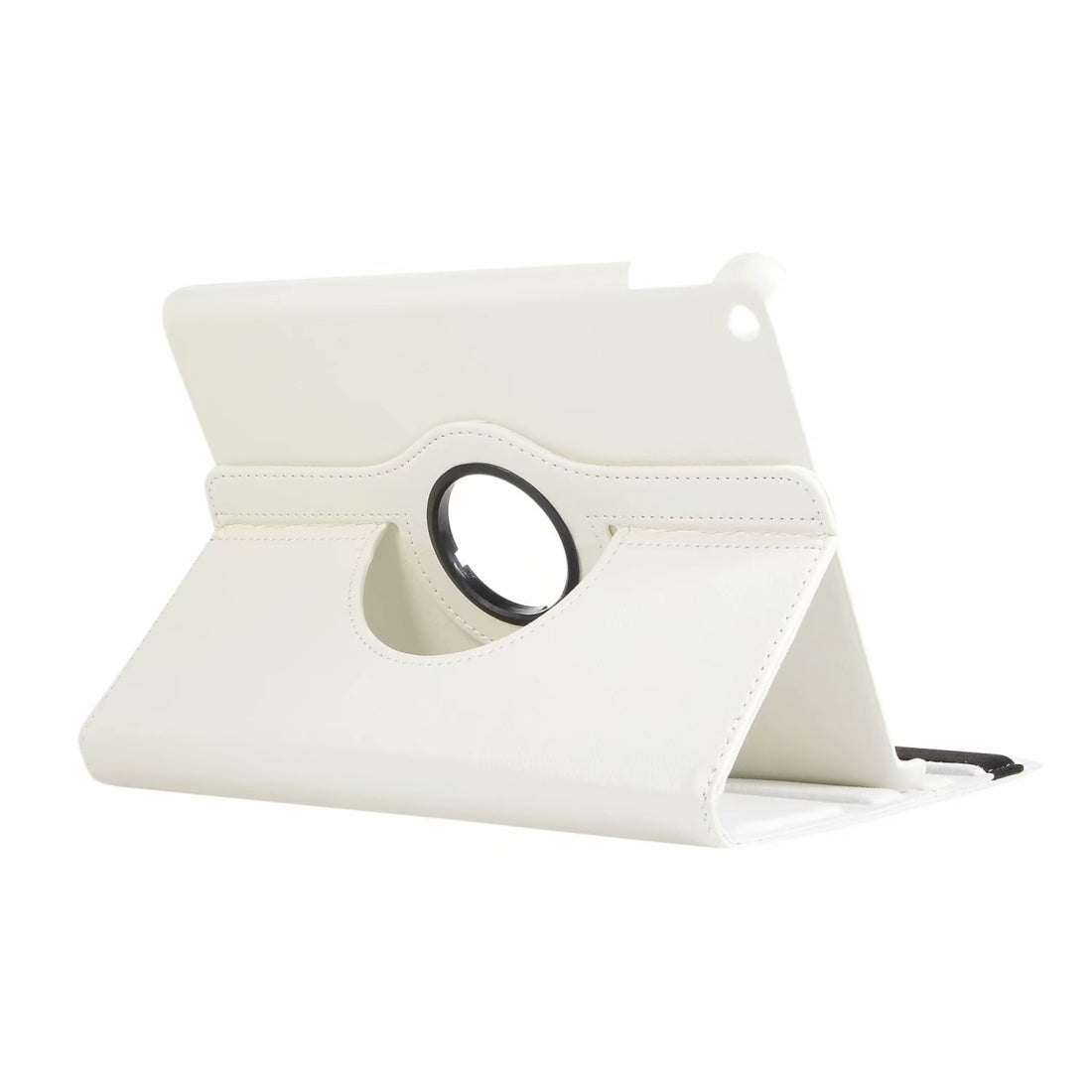 For iPad 10.2 / Air 2019 10.5 Litchi Texture Horizontal Flip 360 Degrees Rotation Leather Case(White)