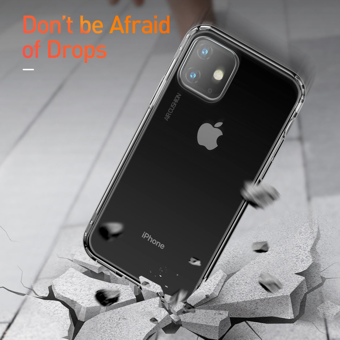 For iPhone 11 Baseus Safety Airbags TPU Case(Transparent)