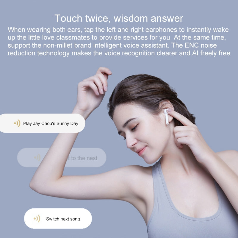 TWSEJ01JY Bluetooth 4.2 Xiaomi Air Wireless Smart Earphones with Magnetic Charging Box, Compatible with iOS & Android(White)