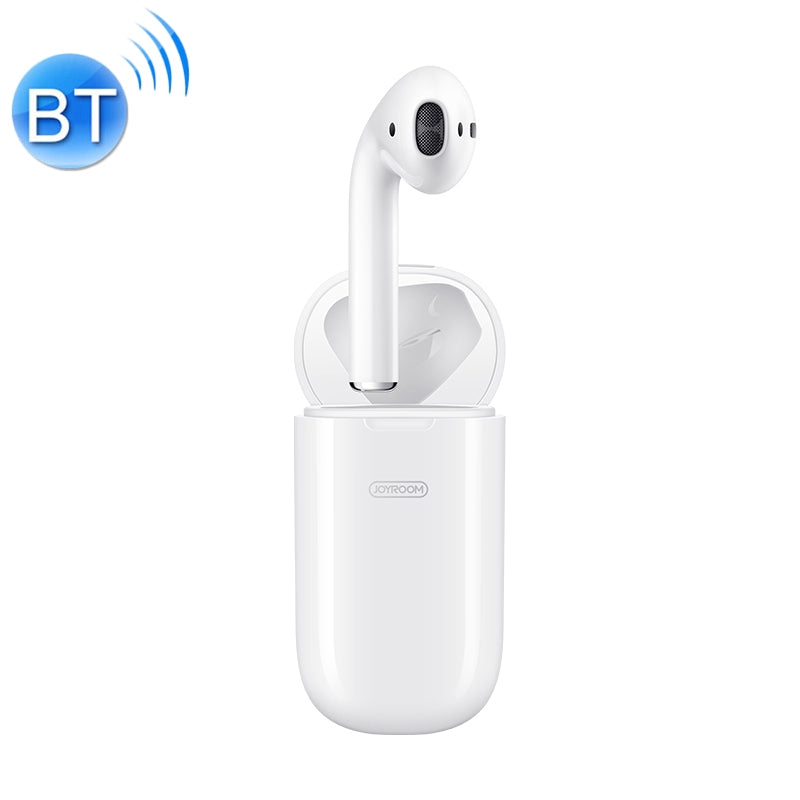 JOYROOM JR-SP1 Single Bluetooth 5.0 Headset with Wireless Charging Box, For iPhone, Galaxy, Huawei, Xiaomi, HTC and Other Smartphones(White)