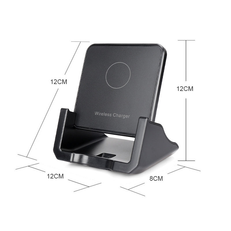 A918 10W Mobile Phone Vertical Wireless Quick Charger Holder(Black)