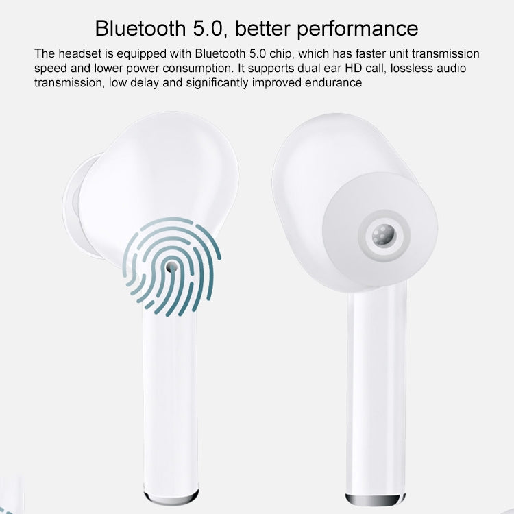 J3 TWS IPX54 Waterproof Dustproof Touch In-ear Wireless Bluetooth Earphone with Charging Box, Support HD Call & Real-time Power Display(Black)