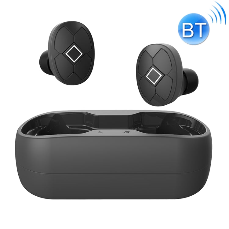V5-TWS Bluetooth V5.0 Wireless Stereo Headset with Charging Case, Support Intelligent Pairing & Siri Voice(Black)