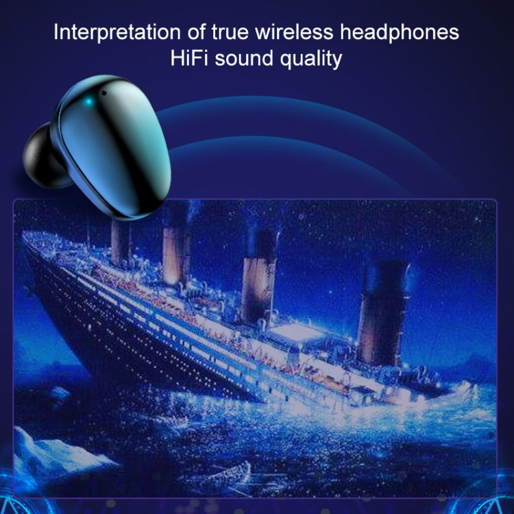 X7 TWS V5.0 Binaural Wireless Stereo Bluetooth Headset with Charging Case and Digital Display(White)