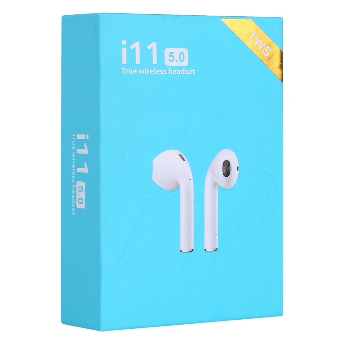 i11 TWS Upgraded Version Bluetooth V5.0 Touch Control Wireless Stereo Earphones with Magnetic Charging Box, Compatible with iOS & Android(White)