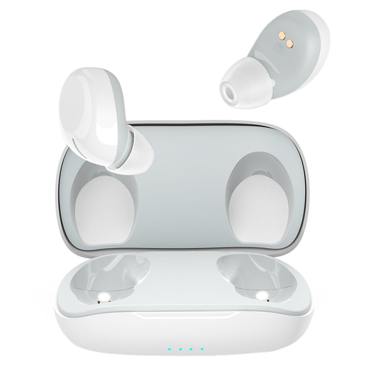 ROCK EB60 TWS Bluetooth 5.0 Mini Wireless Stereo Bluetooth Earphone(White)