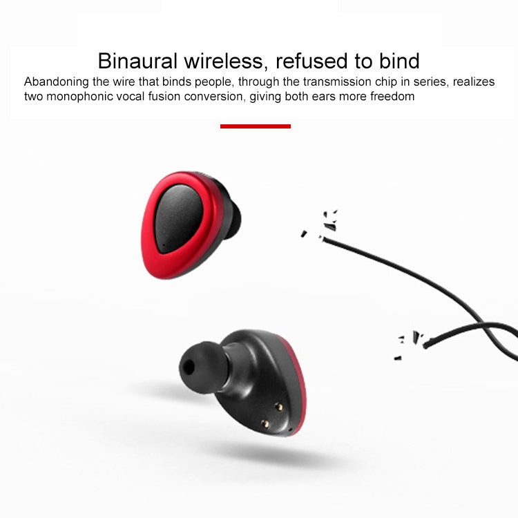 TWS-K2 Mini V4.1 Wireless Stereo Bluetooth Headset with Charging Case(Black Silver)