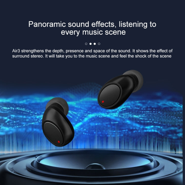 Air3 TWS V5.0 Wireless Stereo Bluetooth Headset with Charging Case, Support Intelligent Voice(Black)
