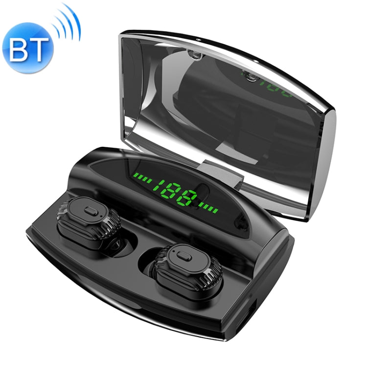 XG-20 TWS Bluetooth Earphone with Magnetic Charging Box, Support Memory Connection & Call & Battery Display Function(Black)