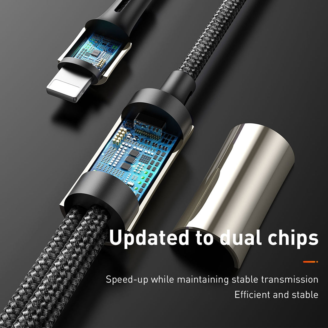 Baseus 3 In 1 3.5A Micro USB + 8 Pin + Type-C / USB-C Charging Cable, Length : 1.2m(Black)