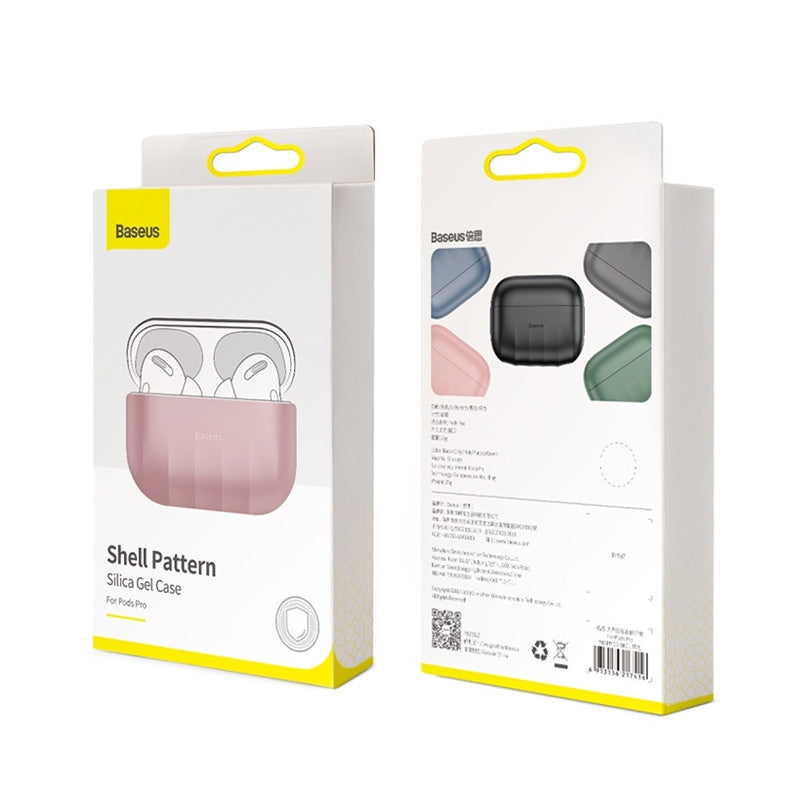 Baseus Shell Pattern Silica Gel Case for AirPods Pro(Pink)