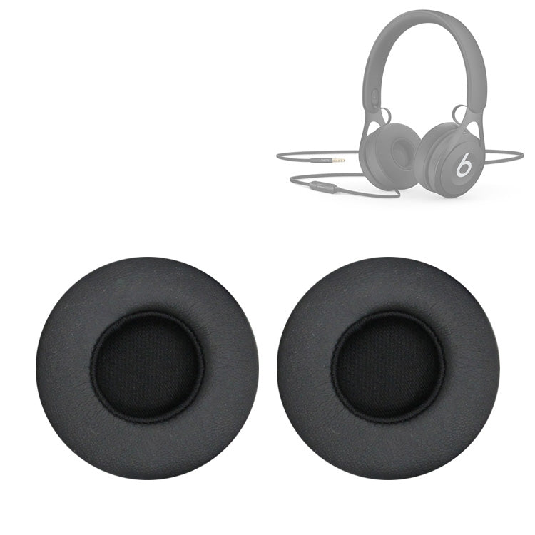 2 PCS For Beats EP Wired Headset Ear-cap Sponge Earmuffs(Black)