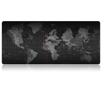 Extended Large Anti-Slip World Map Pattern Soft Rubber Smooth Cloth Surface Game Mouse Pad Keyboard Mat, Size: 80 x 30cm