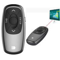 Doosl DSIT011 2.4GHz Mini Rechargeable PowerPoint Presentation Remote Control, Control Distance: 100m(Black)