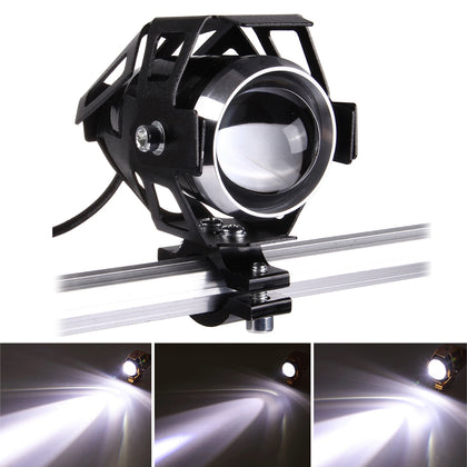 U5 12V 3000LM CREE LED Life Waterproof Motorcycle Driving Light Headlamp with Bright Light & Soft Light & Cool Flash Light Mode(Wh